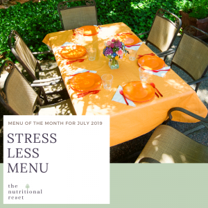Toronto Holistic Nutritionist Laurie McPhail Stress Less Menu