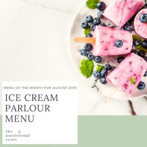 Toronto Holistic Nutritionist Laurie McPhail Ice Cream Parlour Menu