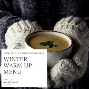 Toronto Holistic Nutritionist Laurie McPhail Winter Warm Up Menu