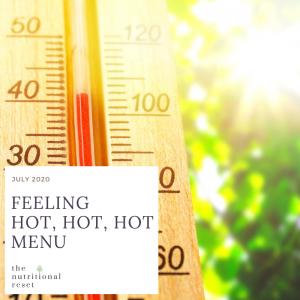 Toronto Holistic Nutritionist Laurie McPhail Feeling Hot, Hot, Hot Menu